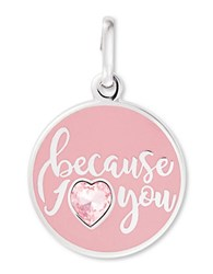 Alex And Ani Because I Love You Charm Pink