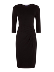 Hotsquash Long Sleeved Damson Kneelength Dress Black