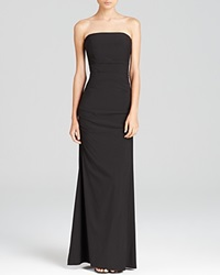 Nicole Miller Gown Strapless Ruched