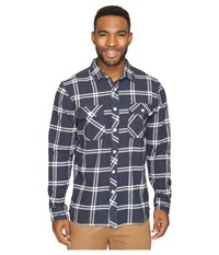 Rip Curl Marin Long Sleeve Flannel Navy Men's Long Sleeve Button Up