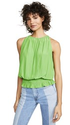 Ramy Brook Sleeveless Lauren Top Kelly Green