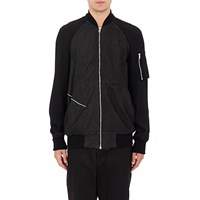 Rick Owens Blistered Lambskin Disco Bomber Jacket Black