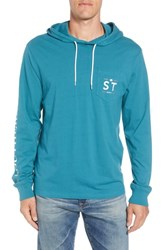 Southern Tide Wave Hooded T Shirt Dark Teal