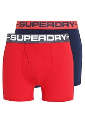 Superdry 2 Pack Shorts Richest Navy Racing Red Dark Blue