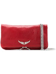 Zadig And Voltaire Rock Crush Shoulder Bag Red
