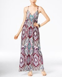 Inc International Concepts Petite Printed Surplice Maxi Dress Only At Macy's Couture Paisley