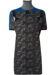 Iceberg Digital Print Dress Black