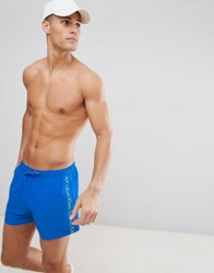 Calvin Klein Short Logo Tape Swim Shorts Blue