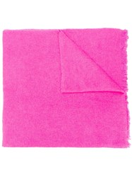 Zadig And Voltaire Logo Scarf Pink