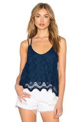 1. State Double Strap Lace Tank Navy
