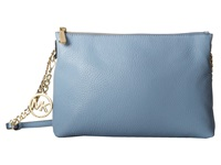 Michael Michael Kors Jet Set Chain Item Top Zip Messenger Pale Blue Messenger Bags