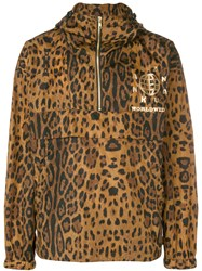 Sankuanz Leopard Print Windbreaker Brown