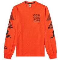 Nike Acg Long Sleeve Knit Tee Orange