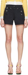 Dolce And Gabbana Navy Front Button Shorts
