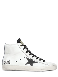 Golden Goose Francy Leather High Top Sneakers White Black