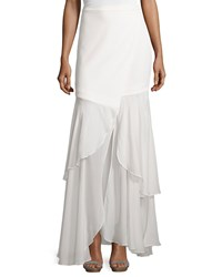 Haute Hippie Tiered Maxi Skirt Swan Women's Size L