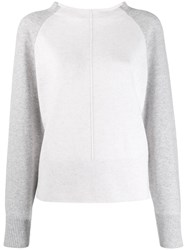 Vince Two Tone Cashmere Sweater Neutrals