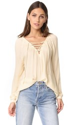 Bb Dakota Jack By Boothe Lace Up Top Fog Beige