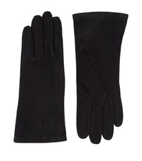 Harrods Of London Silk Lined Suede Gloves Female