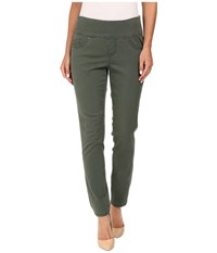 Jag Jeans Amelia Ankle In Bay Twill Deep Forest Women's Casual Pants Green