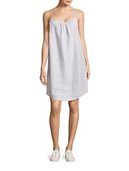 Saks Fifth Avenue Sleeveless Linen Shift Dress New Navy