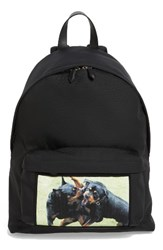 Givenchy Men's Rottweiler Print Canvas Backpack