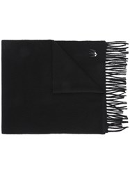Mcq By Alexander Mcqueen Swallow Badge Scarf Black