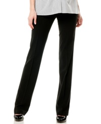 Motherhood Maternity Straight Leg Dress Pants Black