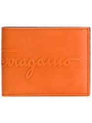 Salvatore Ferragamo Wallet Yellow Orange