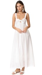 Mara Hoffman Tie Front Maxi Dress White
