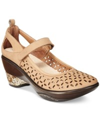 Jambu Women's Calypso Mary Jane Wedges Women's Shoes Taupe