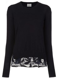 Grey Jason Wu Crew Neck Jumper Blue