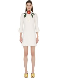 Gucci Embellished Washed Cotton And Linen Dress