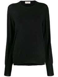 Ma'ry'ya Sheer Jumper Black