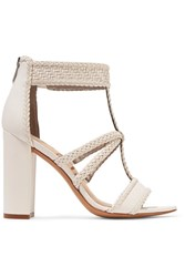 Sam Edelman Yordana Woven Leather Sandals White