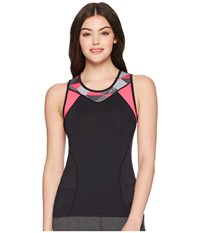 2Xu Active Tri Singlet Black Retro Tri Pink Peacock Clothing