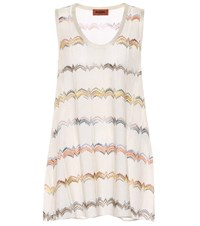 Missoni Knitted Tank Top White