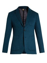 Burberry Single Breasted Cashmere Blazer Navy