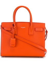 Saint Laurent Nano 'Sac De Jour' Tote Bag Yellow And Orange