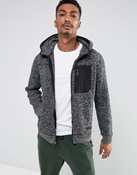 Abercrombie And Fitch Zipfront Hoodie Sports Fleece In Black