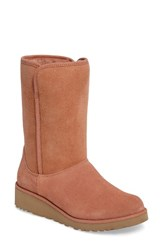 Uggr Women's Ugg Amie Classic Slim Tm Water Resistant Short Boot Cafe Suede