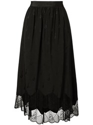 Zadig And Voltaire Joslin Jacquard Skirt Black