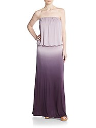 Young Fabulous And Broke Sydney Ombre Strapless Blouson Maxi Dress Plum Ombre