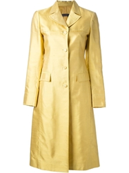 Alberta Ferretti Single Breasted Coat Yellow And Orange