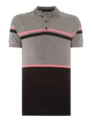 Duck And Cover Men's Illusion Polo Shirt Black