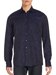 Sand Baroque Regular Fit Shirt Navy