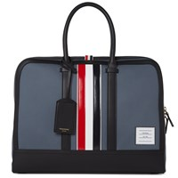 Thom Browne Leather Stripe Mackintosh Day Bag Grey