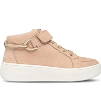 Carvela Linnet Leather Trainers Camel