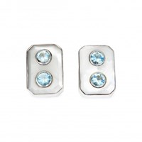 Isabel Englebert Aqua Domino Cufflinks