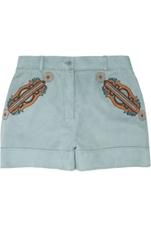 Etro Beaded Suede Shorts